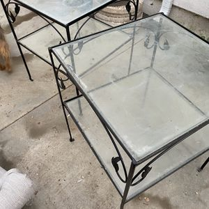 Pair Of Vintage Wrought Iron Tables for Sale in Beverly Hills, CA