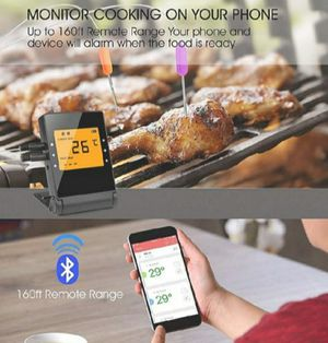 Wireless smart BBQ thermometer & 3 in 2 Bristle stainless steel woven wire grill brush for Sale in Nashville, TN