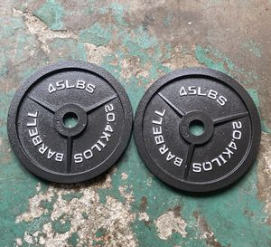 Olympic weight plates (2x45Lbs)for $165 Firm on Price for Sale in Lakewood, CA