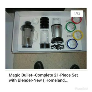 Magic Bullet Deluxe Set..W/ Blender for Sale in Bronx, NY