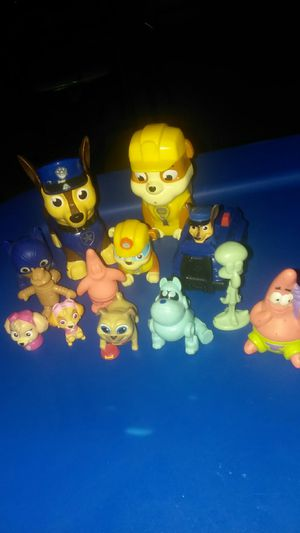 Paw patrol & puppy pals characters from spongebob for Sale in Mesa, AZ