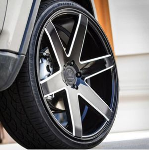 """24"""" VERDE INVICTUS RIMS PKG ✅24x10 Gloss Black Wheels ✅ 24"""" Tires 6*139.7 - Offset +31 Fits Any Lincoln 6 lug 24"""" wheel + many more Fitments Packa for Sale in La Habra Heights, CA"""