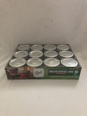 Ball Regular Mouth Canning Mason Jars Quilted Crystal Glass Jelly Jar 4oz 12/Box for Sale in San Fernando, CA