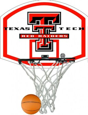 Texas Tech Raiders Basketball Game Rim, Net, and Ball for Sale in Colton, CA