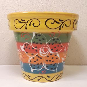 Macetas Gonzalez Handpainted Flower Pot for Sale in Anaheim, CA