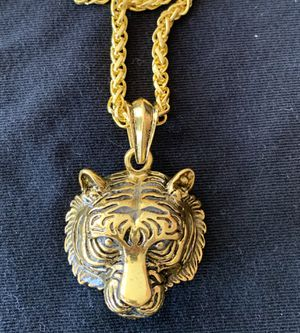 Men Luminous Tiger Head Pendant necklace for Sale in Monroeville, PA