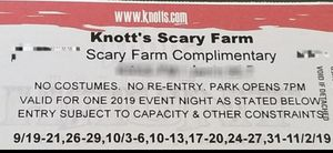 👻KNOTT'S SCARY FARM 👻 for Sale in San Diego, CA