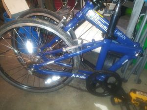 Urban Allen fold up bike folds up like a suitcase for Sale in Columbus, OH