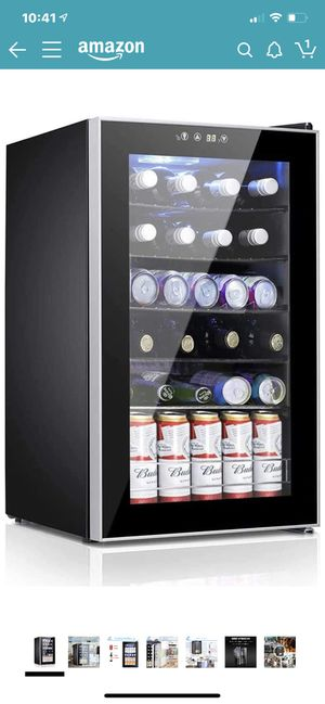 Beverage Refrigerator and Cooler, 85 Can or 24 Bottle Mini Fridge with Glass Door for Soda Beer or Wine, Freestanding Wine Cellars for Office Home Ba for Sale in Corona, CA