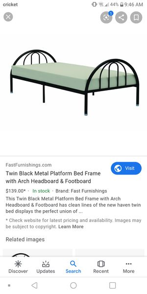 Twin metal bed frame for Sale in St. Louis, MO