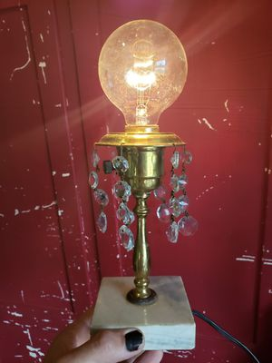 """Antique lamp W/ marble base (8"""" tall without bulb) for Sale in Columbus, OH"""