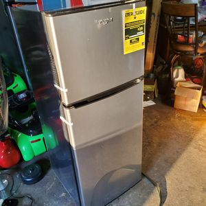4.6 Cu. Ft. Mini Refrigerator with Dual Door True Freezer in Stainless Look for Sale in Columbus, OH