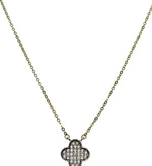 14kt Golc Clover necklace with Zirconia for Sale in Los Angeles, CA