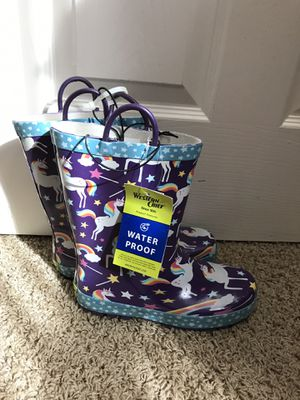 Kids rain boots Size 3 for Sale in Beaverton, OR