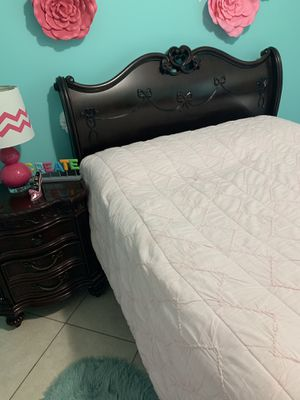 Disney collection wooden bed, desk, night stand, and wardrobe for Sale in Miami, FL