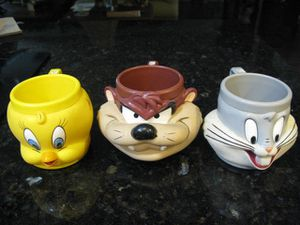 Looney Tunes Mugs 1992 Promotional Partners for Sale in Valrico, FL