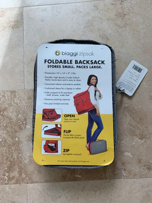 Biaggi Foldable Backpack for Sale in Boca Raton, FL
