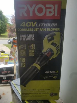 Ryobi110 MPH 480 CFM Variable-Speed 40-Volt Lithium-Ion Cordless Jet Fan Leaf Blower - 3.0 for Sale in Powder Springs, GA