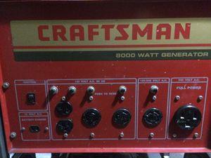 Craftsman 8000watt generator for Sale in Lockhart, FL