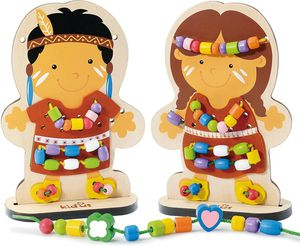 #1 New DIY toys wooden lacing Doll for Sale in Rowland Heights, CA