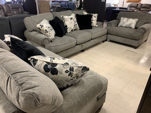 So for Loveseat and Chair Take it home today Downtown Madera Romeo's Furniture Sectional Chair and a half for Sale in Madera, CA