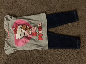 2t Hello Kitty shirt and jeans for Sale in Hemet, CA