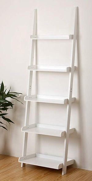 White Leaning Ladder Book Shelf for Sale in Frisco, TX