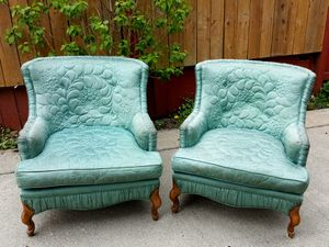 Antique custom matching chairs, signed by designer, Stebner Inc. for Sale in Tacoma, WA