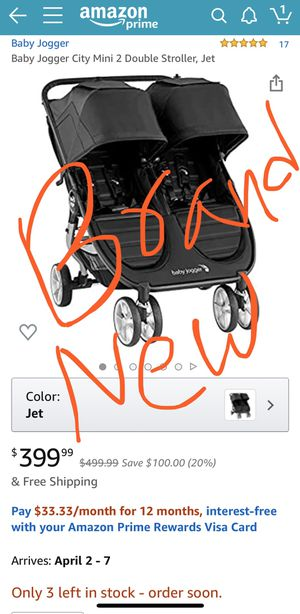 BRAND NEW, NEVER USED, NEVER OPENED double stroller $350 for Sale in San Diego, CA
