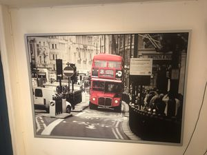 Incredible London Bus picture Framed 55x40 Inches. for Sale in Kensington, MD