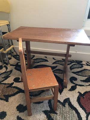 Kids arts and crafts table with chair for Sale in Portland, OR