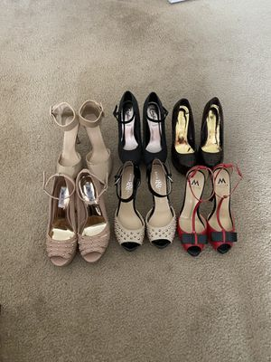 High heels shoes, size 8, some of them are barely used, great condition for Sale in North Andover, MA