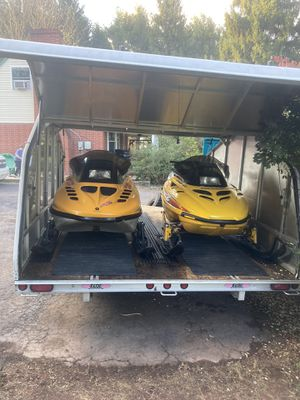 2 Snowmobiles with Floe Trailer for Sale in Royersford, PA