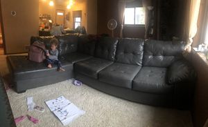 Faux leather sectional sofa (toddler not included) for Sale in Baxter, MN