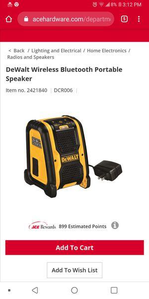 Dewalt Bluetooth speaker for Sale in Lubbock, TX