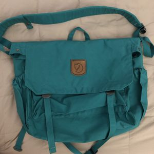 FJALLRAVEN New TEAL GREEN Canvas Messenger Bag for Sale for sale  Culver City, CA