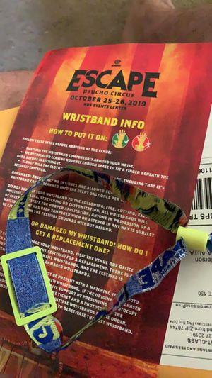 Escape rave ticket for Sale in Altadena, CA