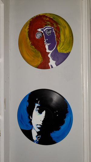 Vinyl record paintings for Sale in West Hollywood, CA