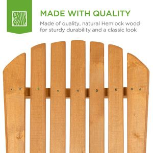 Folding Wood Adirondack Chair Accent Furniture w/ Natural Finish - Brow for Sale in Dublin, OH