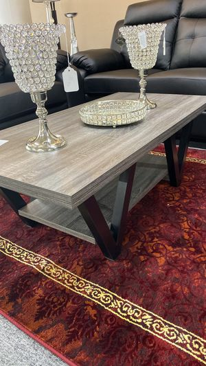 Two Tone Black and Grey Coffee Table 69E for Sale in Irving, TX