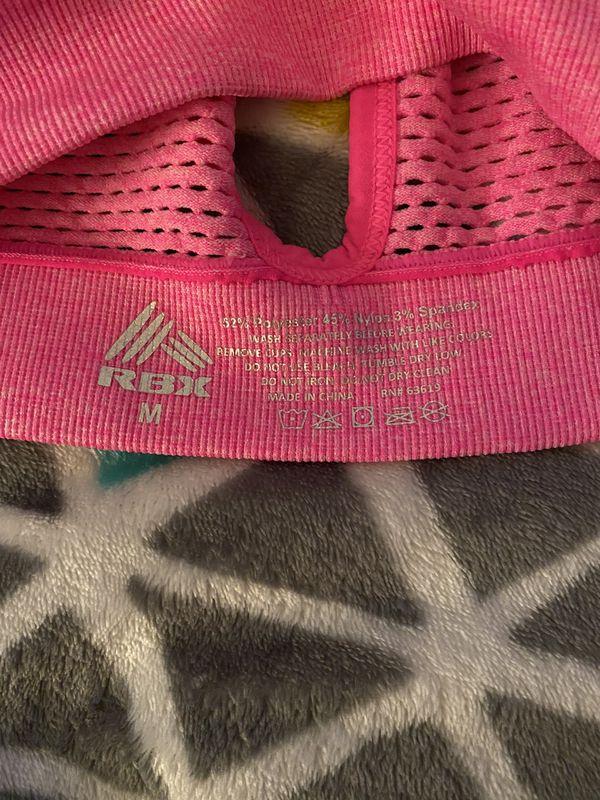 Hot pink women's sports bra