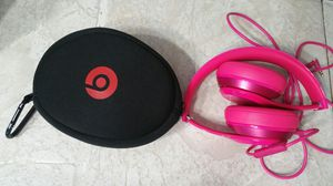 Beats solo wired on -ear headphones -pink in excellent condition for Sale in Romeoville, IL