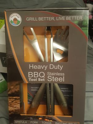 Heavy duty grill tool set for Sale in Evesham Township, NJ