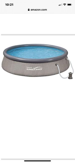 12 foot pool, use one months last year. Moving out of home. Cover, may extra filter, clean ready to install just add water. 100.00 for Sale in Las Vegas, NV