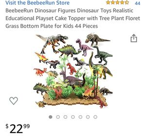 Dinosaur Figures-Dinosaur Toys/Realistic Educational Playset Cake Topper w/Tree Plant Floret Grass Bottom Plate for Kids/44 Pieces for Sale in Miami, FL