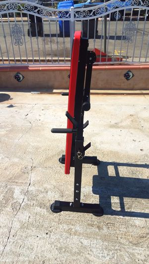Foldable bench press with dip bar Brand new for Sale in Montebello, CA