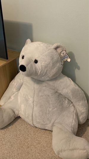 LIFE SIZE POLAR BEAR STUFFED ANIMAL *CLEAN for Sale in Castaic, CA