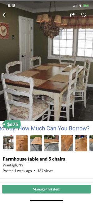 Farmhouse kitchen table and chairs for Sale in Wantagh, NY