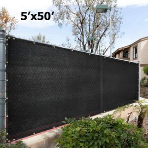 NEW 5'x50' Privacy Fence Wind Screen - BLACK for Sale in Ontario, CA
