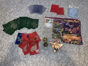 Pokemon cards and sleeves and yugioh item for Sale in Stoughton, MA